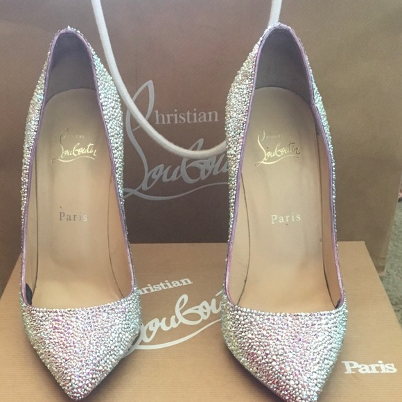 new product c6667 c485f Louboutin Pigalle in AB Swarovski rhinestones